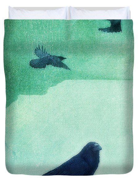 Spirit Bird Duvet Cover by Priska Wettstein