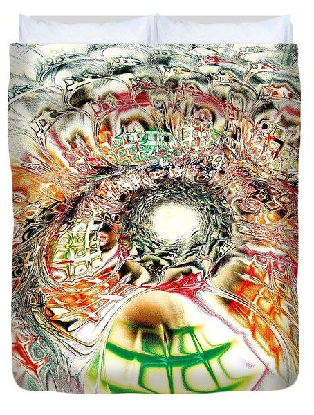 Spirit Crowd Duvet Cover by Anastasiya Malakhova