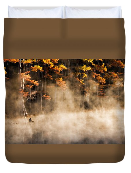 Duvet Cover featuring the photograph Spirit Dance by Lana Trussell