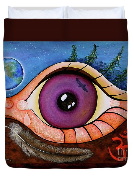 Spirit Eye Duvet Cover by Deborha Kerr