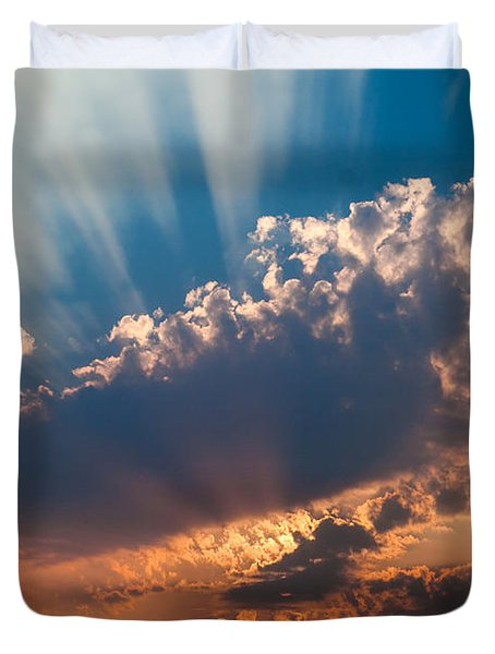 Duvet Cover featuring the photograph Spirit In The Sky by Jack Bell