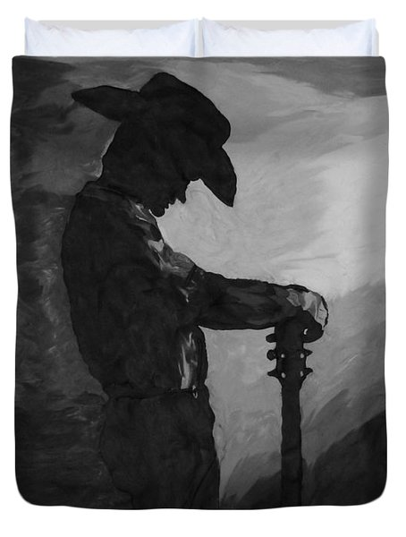 Spirit Of A Cowboy Duvet Cover