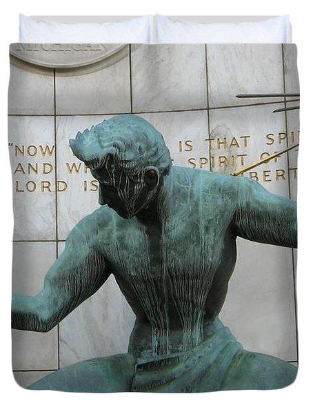 Spirit Of Detroit Duvet Cover