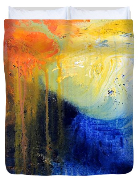 Spirit Of Life - Abstract 7 Duvet Cover by Kume Bryant