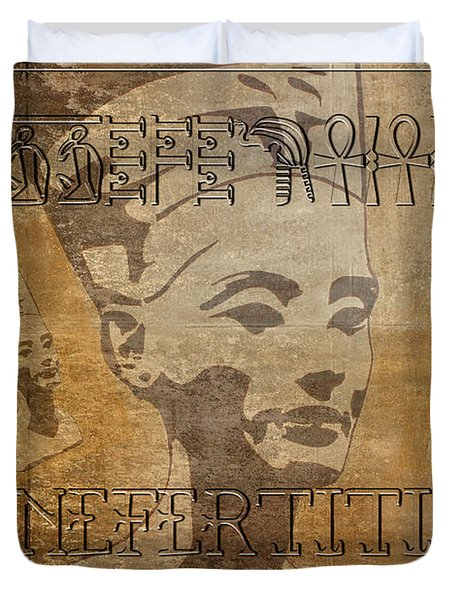 Spirit Of Nefertiti Egyptian Queen   Duvet Cover