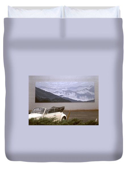 Spirit Of The Air Shown With Car Duvet Cover by Blue Sky