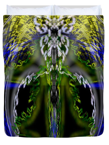 Spirit Of The Dragon Duvet Cover by Christopher Gaston