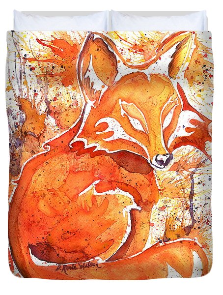 Spirit Of The Fox Duvet Cover