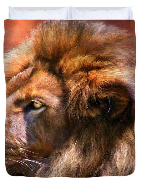 Spirit Of The Lion Duvet Cover