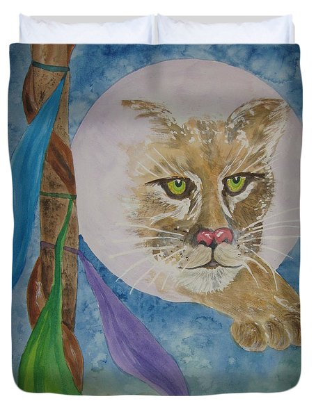 Spirit Of The Mountain Lion Duvet Cover