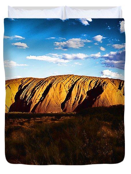 Spirit Of The Rock Duvet Cover by Douglas Barnard