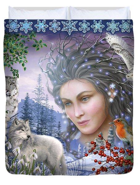 Spirit Of Winter Variant I Duvet Cover