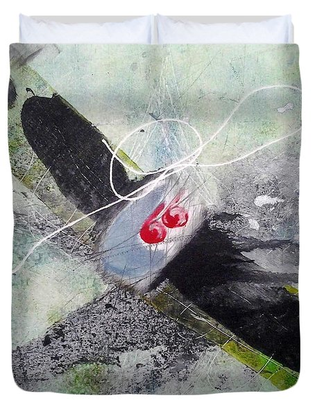Duvet Cover featuring the painting Spirit Spiral by Lesley Fletcher