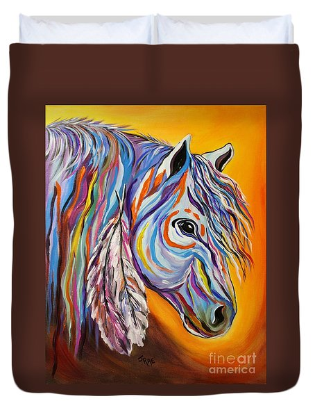 'spirit' War Horse Duvet Cover