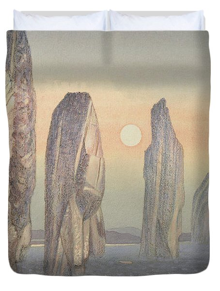 Spirits Of Callanish Isle Of Lewis Duvet Cover by Evangeline Dickson