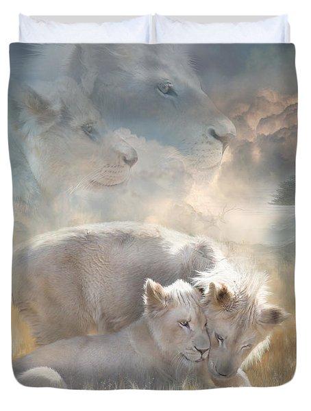 Spirits Of Innocence Duvet Cover by Carol Cavalaris