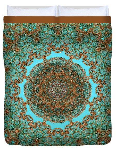 Spiritual Art - Diaphanous Moods Mandala By Rgiada   Duvet Cover