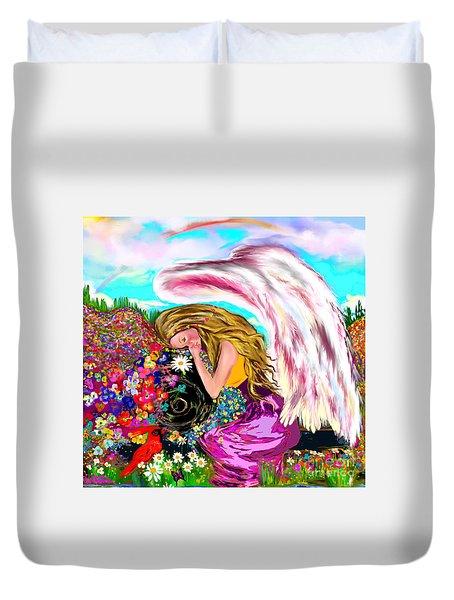 Spiritual Awakening  Duvet Cover by Lori  Lovetere
