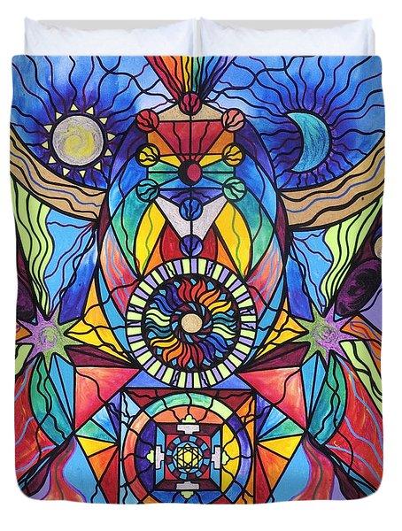 Spiritual Guide Duvet Cover by Teal Eye  Print Store