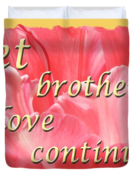 Spiritual Love - Bordered Duvet Cover by Terry Wallace