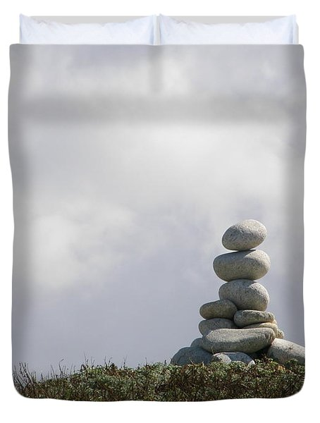 Spiritual Rock Sculpture Duvet Cover by Bev Conover