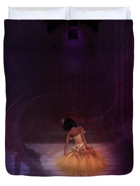 Duvet Cover featuring the digital art Spiritual Vortex by Kylie Sabra