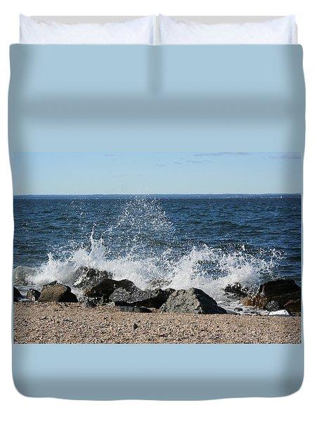 Splash Duvet Cover by Karen Silvestri