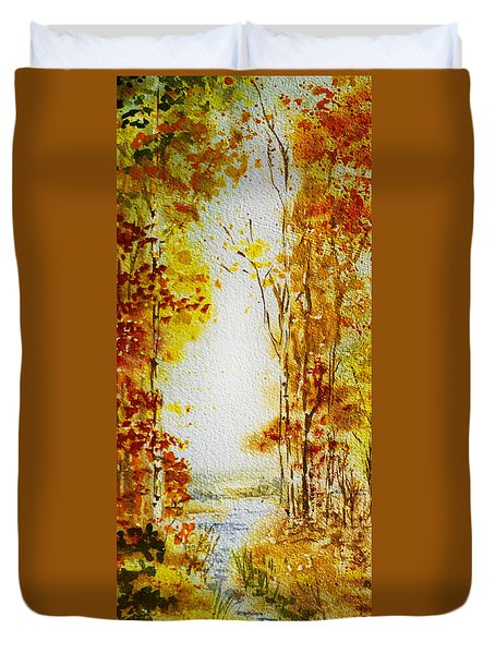 Splash Of Fall Duvet Cover by Irina Sztukowski