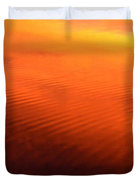 Splash Of Sunset  Duvet Cover