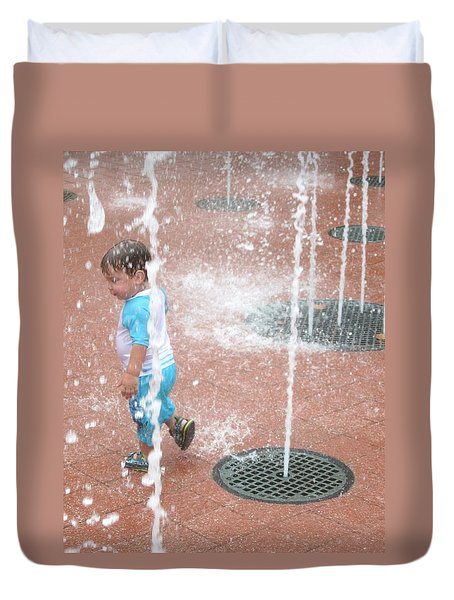 Splash Pad Duvet Cover