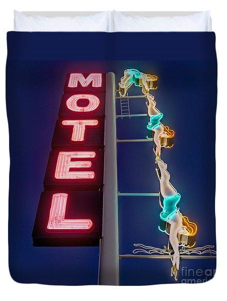 Splashdown Motel Duvet Cover