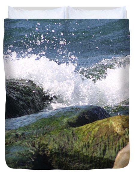 Splashing Rocks Duvet Cover