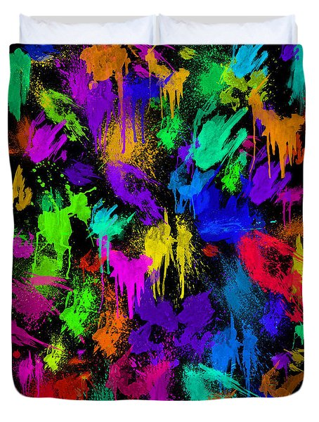 Splattered One Duvet Cover