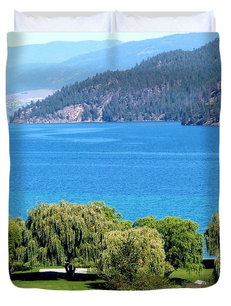 Splendid Kalamalka Lake Duvet Cover