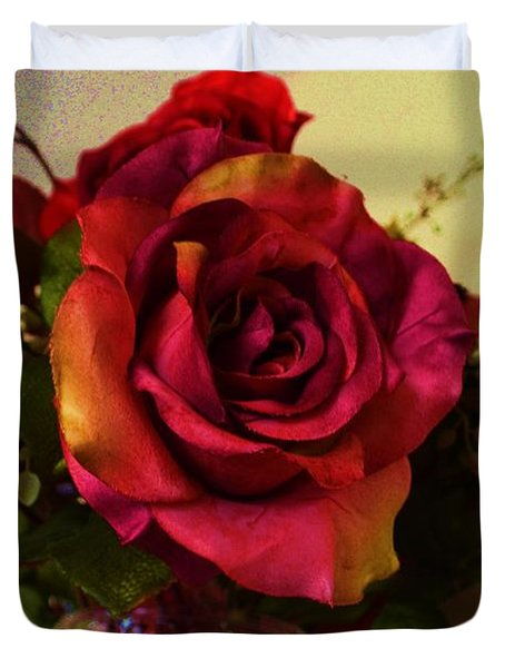 Splendid Painted Rose Duvet Cover by Luther Fine Art