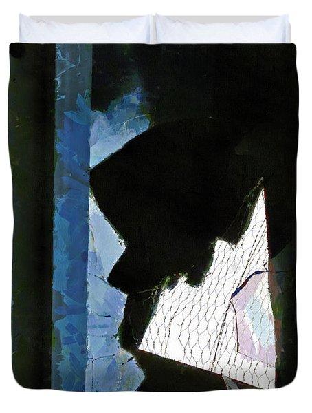 Splintered  Duvet Cover by Steve Taylor