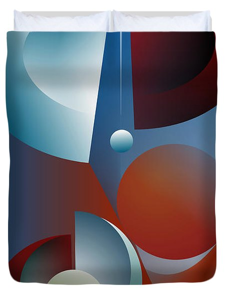 Duvet Cover featuring the digital art Split Cycle by Leo Symon