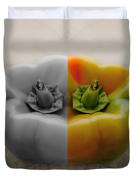 Split Pepper Duvet Cover by Don Spenner