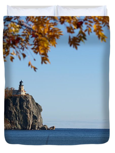 Split Rock Leaves Duvet Cover