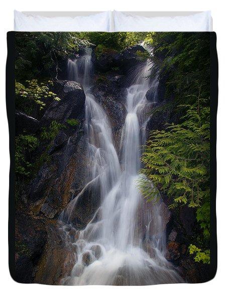 Split Top Falls Duvet Cover by Mike  Dawson