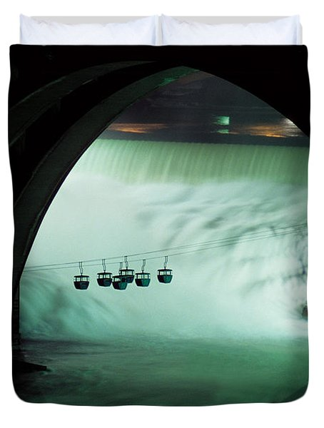 Spokane Falls Duvet Cover by Sharon Elliott