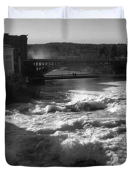 Spokane Falls Spring Flow Duvet Cover