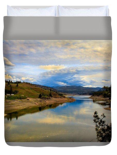Spokane River Duvet Cover by Robert Bales