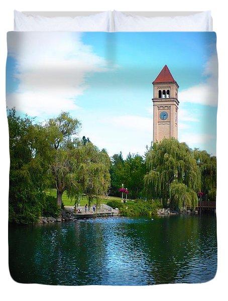 Spokane Riverfront Park Duvet Cover by Carol Groenen