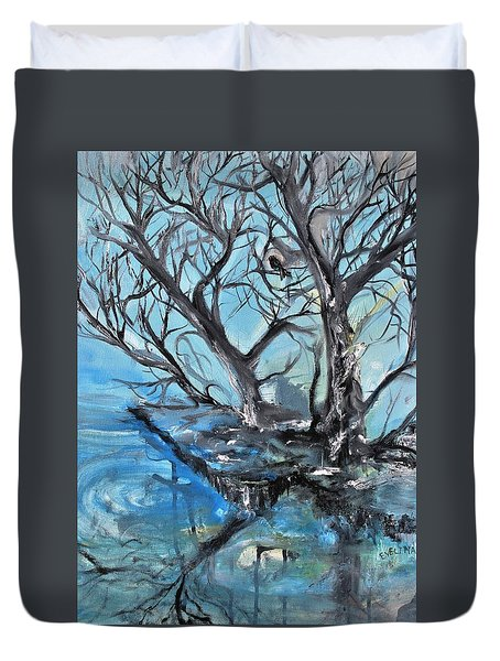 Spooky Mood Duvet Cover by Evelina Popilian