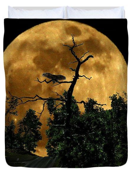 Spooky Road Duvet Cover