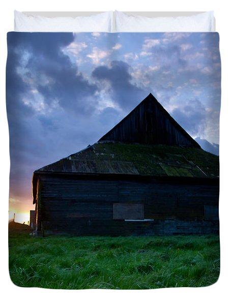 Spooky Shadow Barn Duvet Cover by Eti Reid