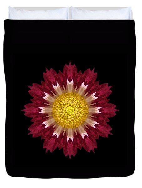Spoon Chrysanthemum I Flower Mandala Duvet Cover by David J Bookbinder