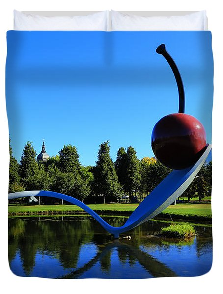 Spoonbridge And Cherry 3 Duvet Cover by Rachel Cohen