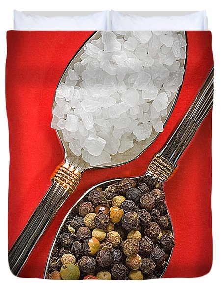 Spoonfuls Of Salt And Pepper Duvet Cover by Susan Candelario